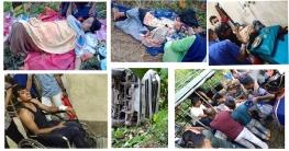 সাজেকে মাইক্রোবাস উল্টে পুলিশসহ ১২ পর্যটক আহত